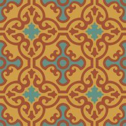 Gạch bông CTS 84.10(6-40-62) - 4 viên - Encaustic cement tile CTS 84.10(6-40-62) - 4 tiles
