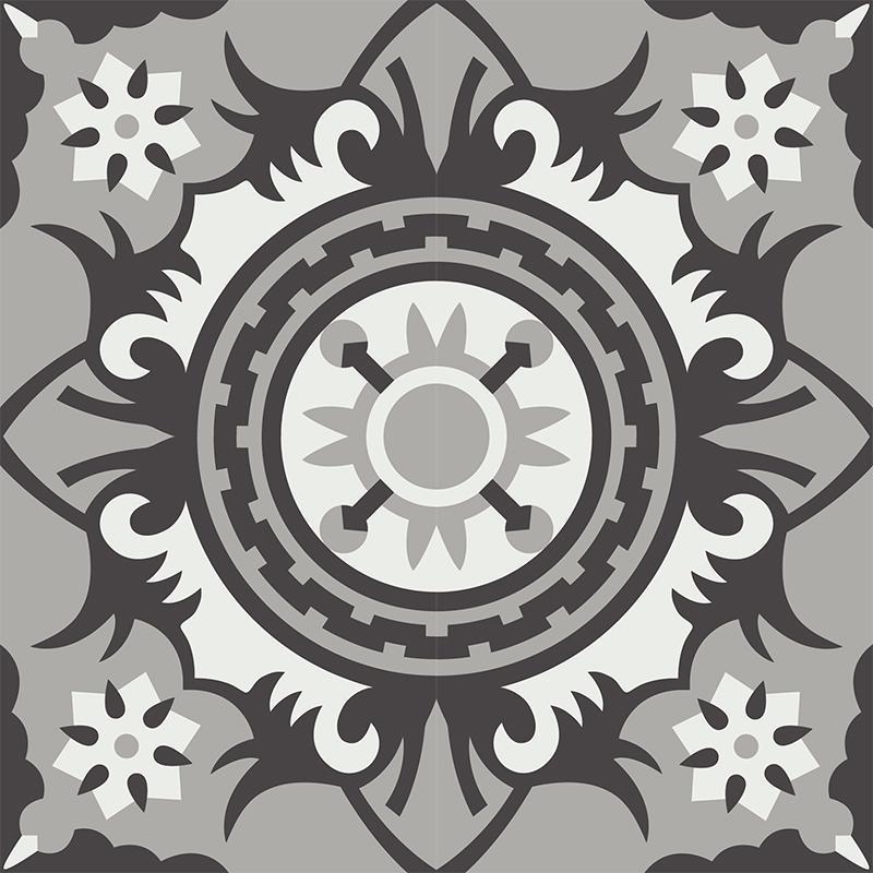 Gạch bông CTS 278.1(4-9-13) - 4 viên - Encaustic cement tile CTS 278.1(4-9-13) - 4 tiles