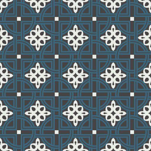 Gạch bông CTS 279.1(1-4-13) - 16 viên - Encaustic cement tile CTS 279.1(1-4-13) - 16 tiles