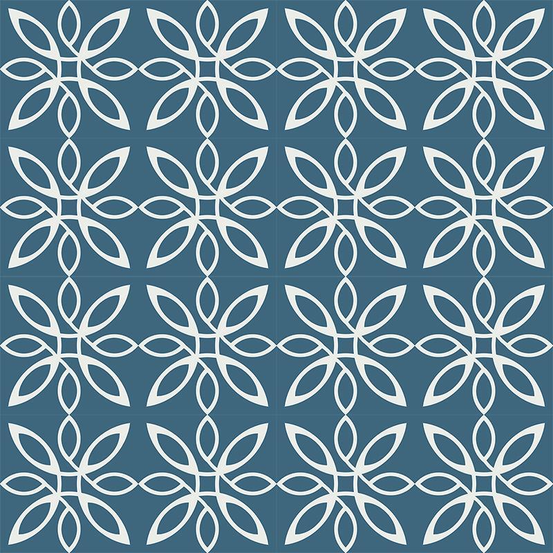 Gạch bông CTS 280.1(1-4) - 16 viên - Encaustic cement tile CTS 280.1(1-4) - 16 tiles