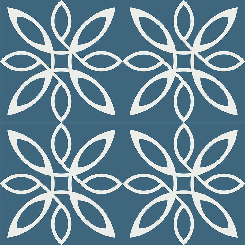 Gạch bông CTS 280.1(1-4) - 4 viên - Encaustic cement tile CTS 280.1(1-4) - 4 tiles