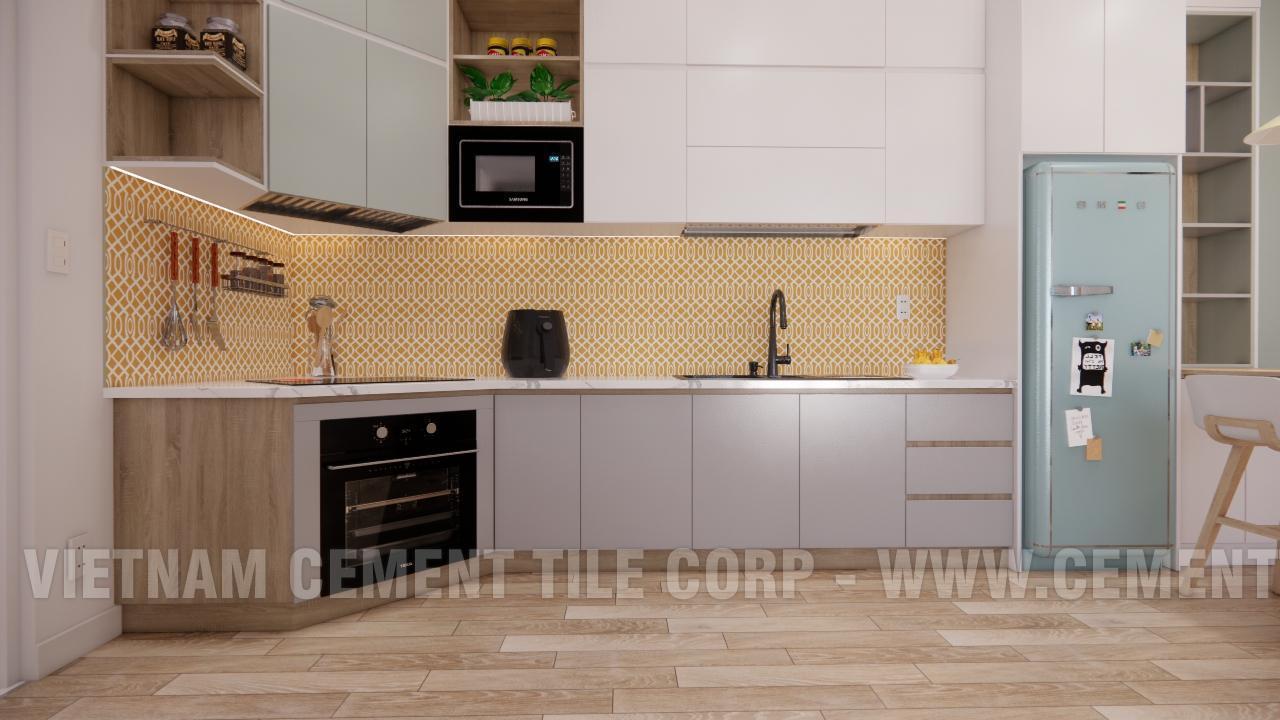Gạch bông cts 283.1 ốp tường trang trí nhà bếp