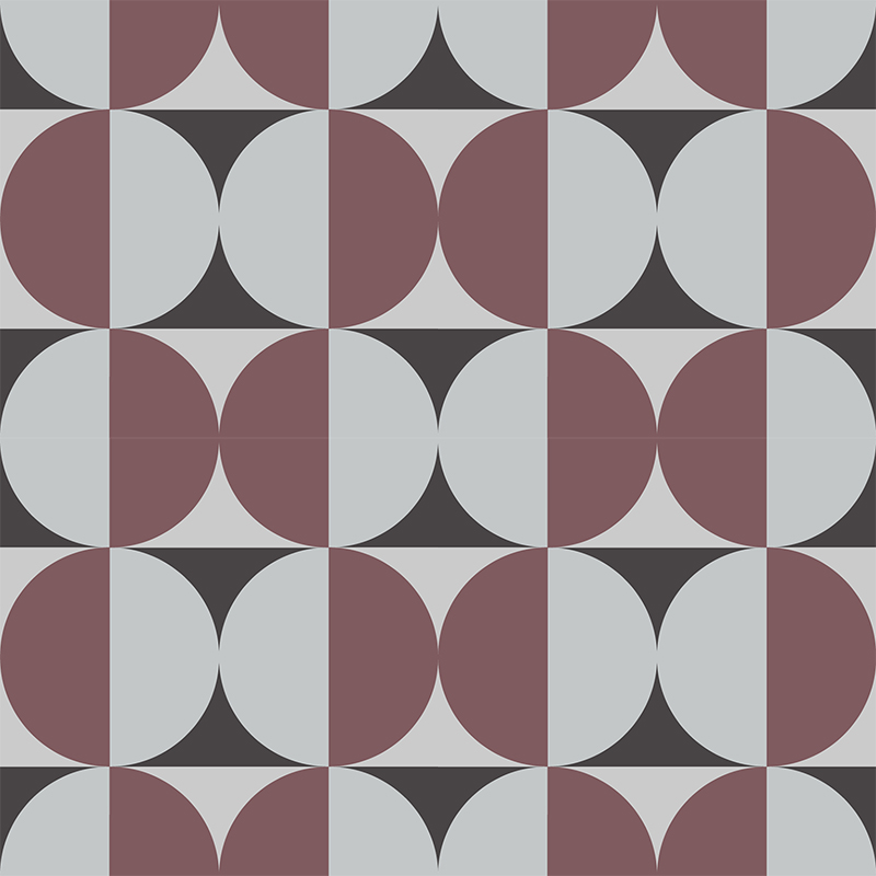 Gạch bông CTS 291.1(13-54-Dark red) - 4 viên - Encaustic cement tile CTS 291.1(13-54-Dark red) - 4tiles