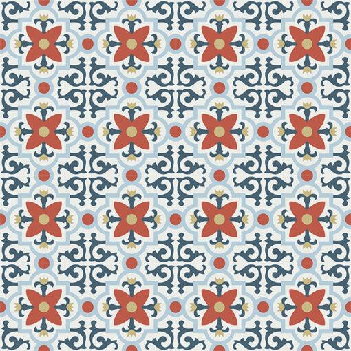 Gạch bông CTS 76.2(1-2-4-5-52) - 16 viên - Encaustic cement tile CTS 76.2(1-2-4-5-52) - 16 tiles