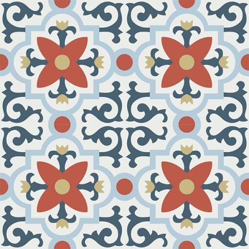 Gạch bông CTS 76.2(1-2-4-5-52) - 4 viên - Encaustic cement tile CTS 76.2(1-2-4-5-52) - 4 tiles